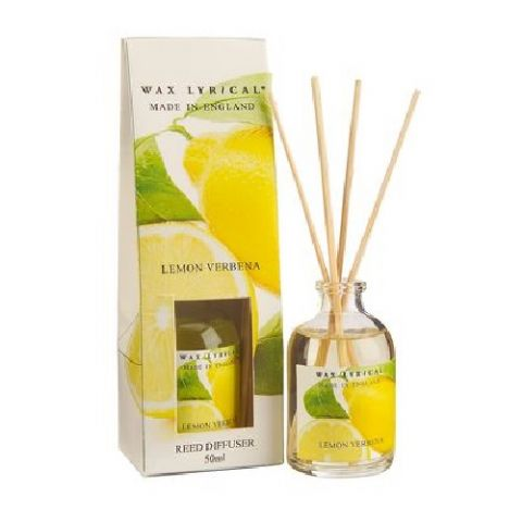 Lemon Verbena Fragranced Mini Reed Diffuser Made In England Wax Lyrical 50ml